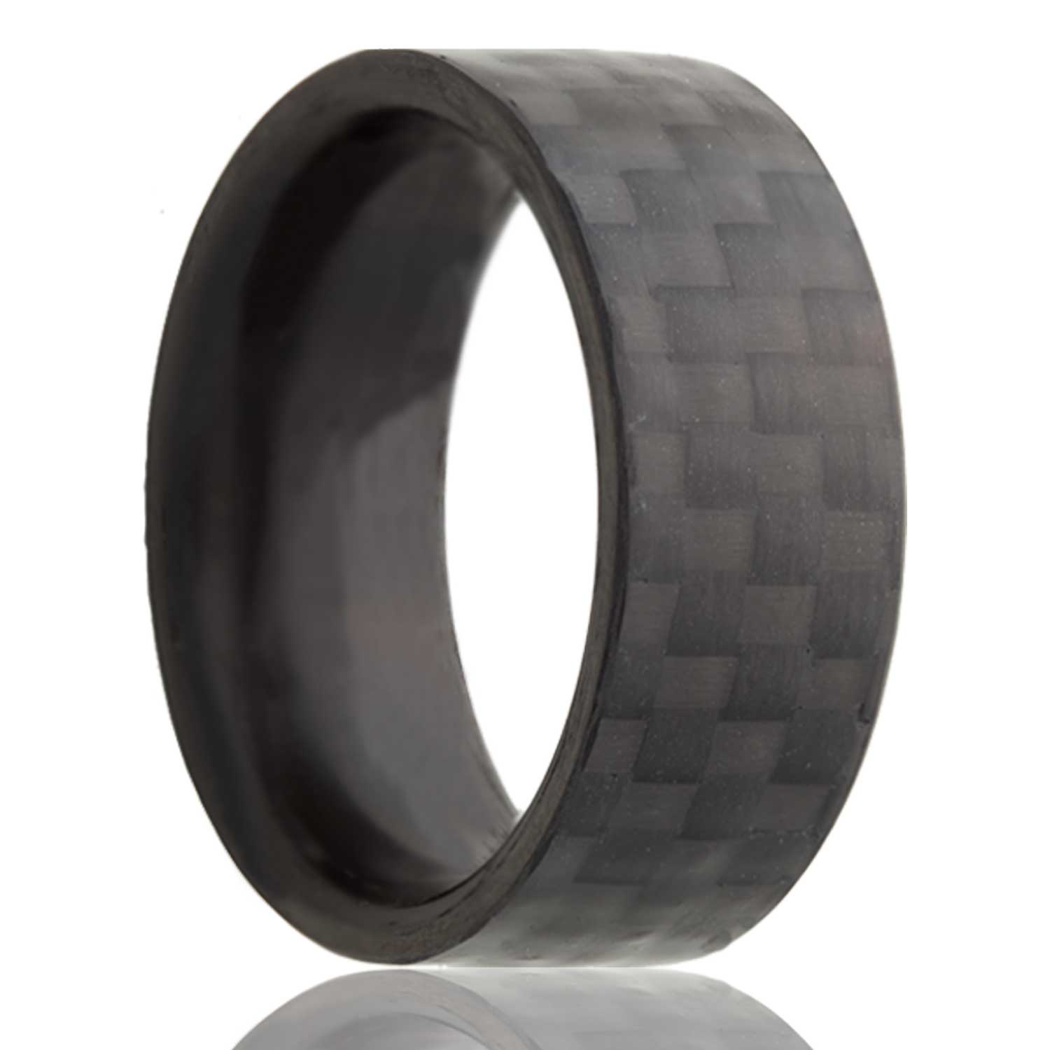 bands him ring decor ideas fiber rings sleek wood made carbon custom modern wedding for